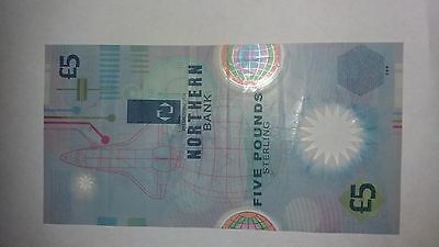 Northern Bank Limited Plastic Five Pound Note