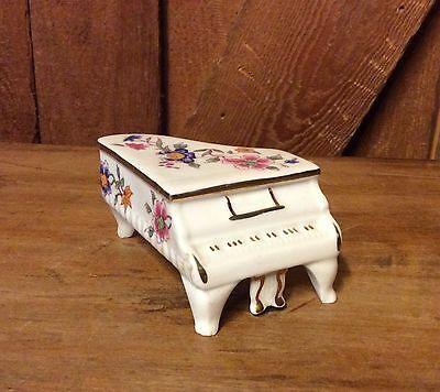 Hammersley Piano Miniature Fine Bone China Made In England Vintage