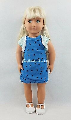 18'' BATTAT Our Generation American Girl Doll Blonde Hair With Blue Skirt #44