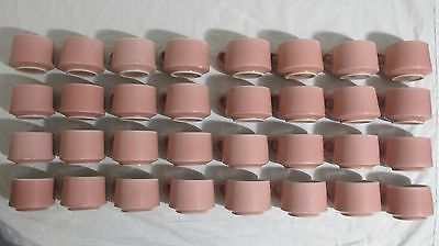 32 Vintage Coffee Mugs Shenango China RimRol WelRoc Pink Restaurant Cafe Diner