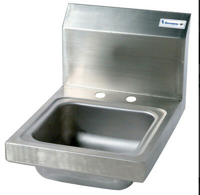 "BK Resources BKHS-D-SS 9""W x 9""D x 4-3/8"" Wall Mount Space Saver Hand Sink"