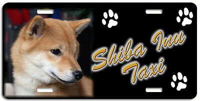 Shiba Inu 1 Taxi Line License Plate (( LOW CLEARANCE PRICE ))