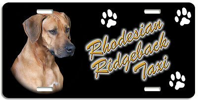 Rhodesian Ridgeback  Taxi Line License Plate (( LOW CLEARANCE PRICE ))
