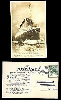 Olympic und Titanic Postkarte - the World greatest Steamers