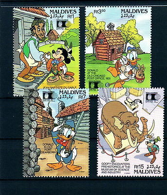Disney 592 Maldives SC# 1668-1671 World Stamp Expo Set of Stamps Mint