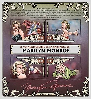 Z08 Imperforated NIG16115a NIGER 2016 Marilyn Monroe MNH