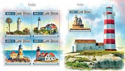 GB15513ab GUINEA-BISSAU 2015 Lighthouses Lighthouses phares SET MNH