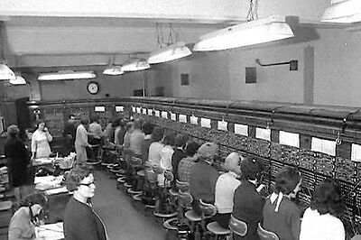 PHOTO TAKEN FROM A 1960's IMAGE OF THE CONTROL ROOM AT SCOTLAND YARD