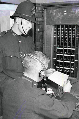 Photo Taken From A 1935 Image - Police Officer On Switch Board
