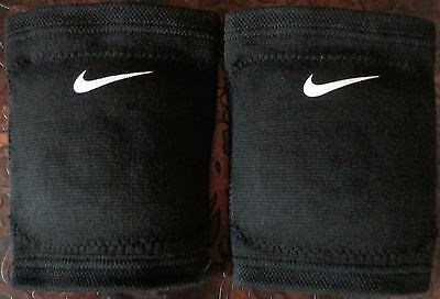 Nike Volleyball Dri-Fit Knee Pads One Pair Adult Unisex Black Large - New