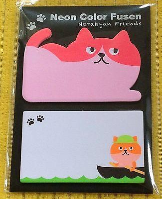 Neon Pink Kitty Cat Sticky Post It Memo Notes Cute Kawaii Xmas Gift Office Study