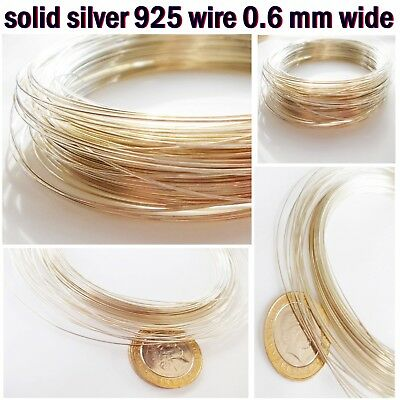 Real Solid 925 SILVER wire 0.6 mm thick for decorating jewelry repair soldering