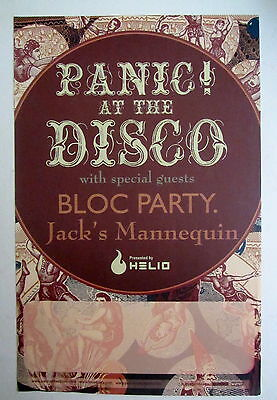 Panic At The Disco Jacks Mannequin Bloc Party 2006 Tour Promo Poster RARE OOP