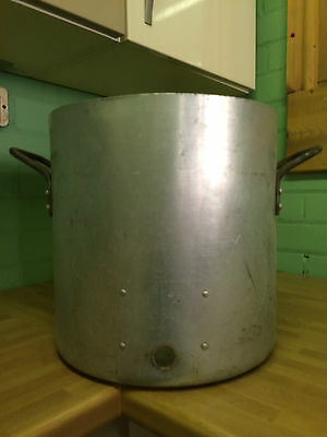 LARGE ALUMINIUM STOCK POT CATERING BOILING PAN SOUP 310mm HEIGHT 310mm DIAMETER