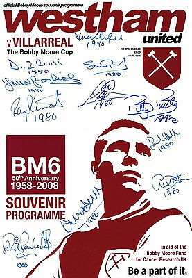 West Ham United 1980 Fa Cup Winners Hand Signed Programme Authentic Genuine Coa