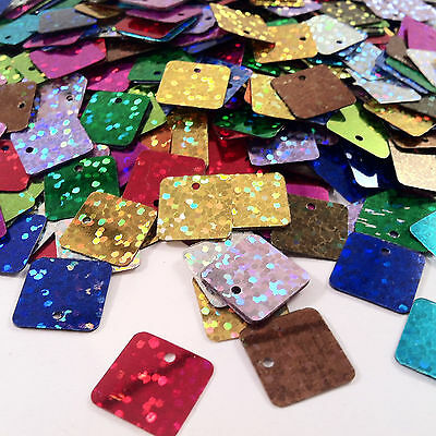 900+pcs LARGE SQUARE SEQUINS 12.5mm - embellishments craft cardmaking wholesale