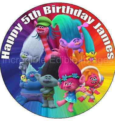 Trolls Personalised Cake Topper Party Decoration