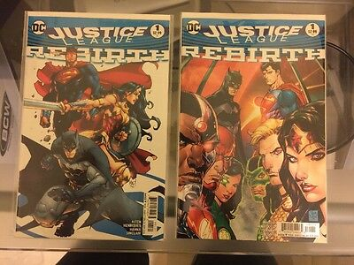 JUSTICE LEAGUE REBIRTH #1 VARIANT EDITION & REGULAR Madureira BOTH COVERS 2 A B