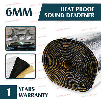 500mm x1000mm Car Door Heat Sound Dampening Proof Sheet Deadner glassfiber 6MM