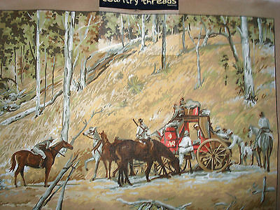 """"""" BAILED UP """".  Country Threads Tapestry Canvas only Design size 54.5cm x 74cm"""
