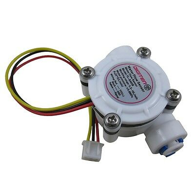 G1/4'' Quick Connect Water Flow Hall Sensor Switch Flowmeter Counter 0.3-10L/min