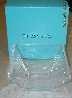 Tiffany & Co.Crystal tapered Square Candy or Nut Dish