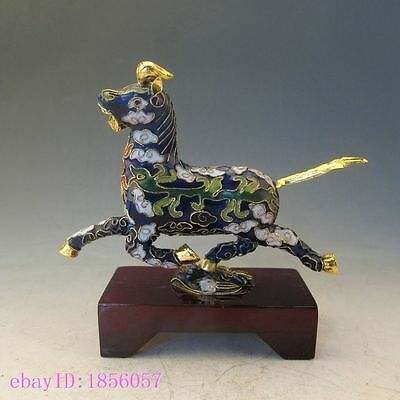 Chinese Cloisonne Handwork Horse riding Chebi Statue NR