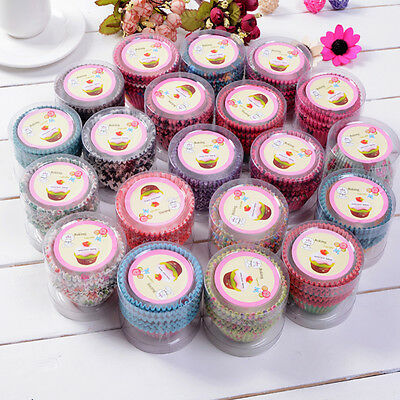 100pcs DIY Paper Cake Cup Liners Baking Cup Muffin Kitchen Cupcake Cases Xmas