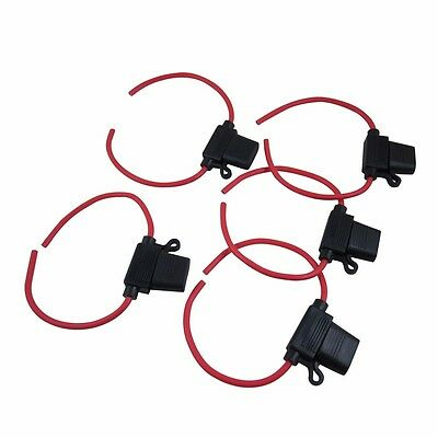 5pcs 12 Gauge Inline Water-resistant ATC/ATO Fuse Holder For Car Boat Truck