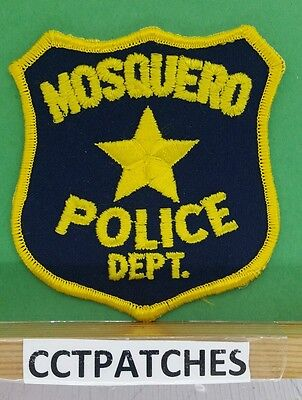 Mosquero, New Mexico Police Shoulder Patch Nm