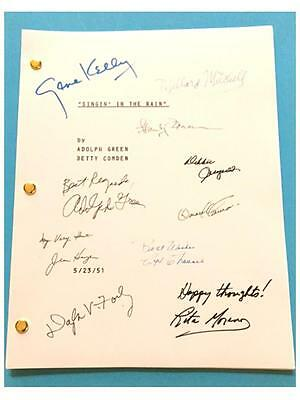 Singin' In The Rain Signed Script Gene Kelly  Donald O'connor  Debbie Reynolds