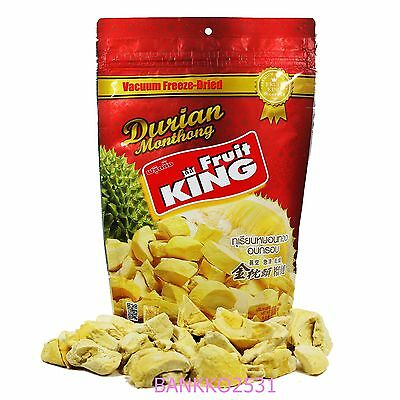 100 g Fruit King Vacuum Freeze Dried Durian Monthong Snack Natural Healthy Halal