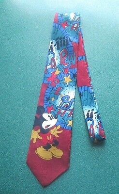 Disney Mickey Mouse Necktie Tie Red Mickey Unlimited Large Graphic Print