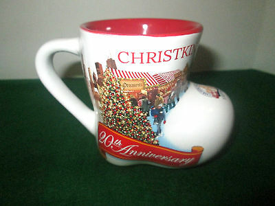 "Christkindlmarket Chicago Boot Mug 20th Anniversary 2015 - Marked ""0,21"""
