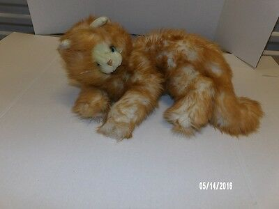 Large Russ YOMIKO Plush Realistic Long Haired Orange Tabby Cat