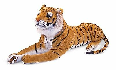 Large Siberian Tiger Plush Toy Lifelike Stuffed Animal Kids Realistic Soft Doll