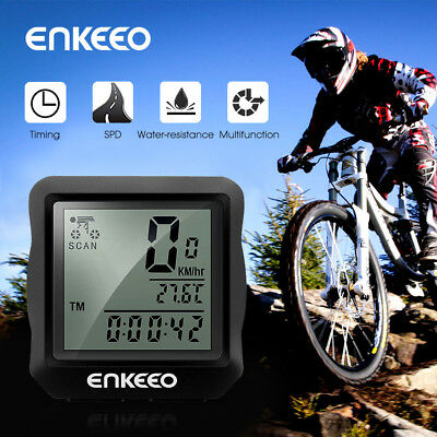 Multi-Function Bike Cycling Bicycle Odometer Wired Computer Cadence Speedometer