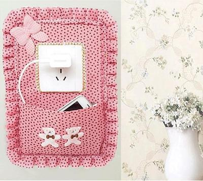 NEW Cute Floral Print Switch Sticker Outlet Cover Wall Decals Home Room Decor LH