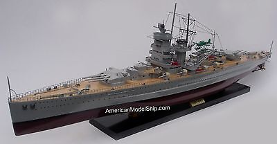 "Graf Spee German Battleship Ship Model 39"" Built Wooden Model Ship NEW"