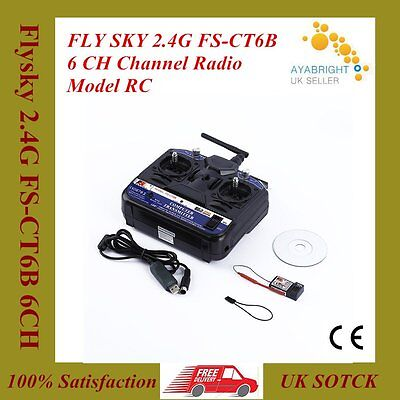 Transmitter Receiver Combo Flysky 2.4G FS-CT6B 6CH For RC Boat Car