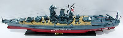 "Musashi Japanese Navy Battleship Model 47"" Built Wooden Model Ship NEW"
