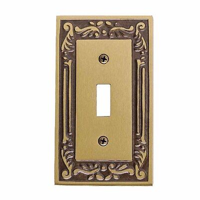 Victorian Switch Plate Single Toggle / Dimmer Antique Brass | Renovator's Supply