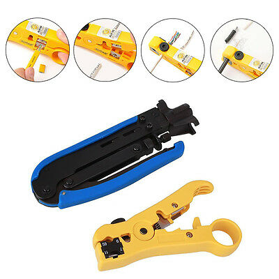 F RG59 RG6 RG11 Connector Cable Wire Coax Coaxial Crimper Stripper Pliers