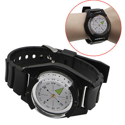 COOL Tactical Wrist Compass Military Outdoor Survival Watch Strap Band Bracelet