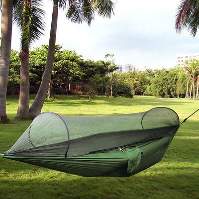 Double Person Outdoor Travel Hanging Hammock Wing Bed Camping Tent Portable