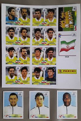 panini  france 98 extra stickers england angleterre 467 477 478 rare foot 1998