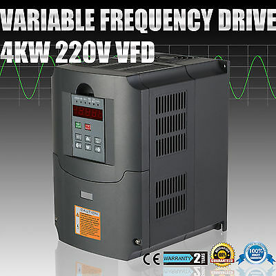 5HP 4KW VFD Variable Frequency Drive Inverter Calculous Pid Motor Single Phase