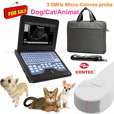 CONTEC CMS600P2VET Portable Veterinary Laptop Ultrasound Scanner Machine Dog/Cat