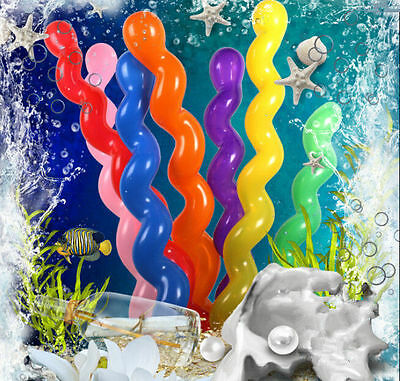 10 Twist Spiral Latex Balloons Wedding Kids Birthday Party Decor Toy Gif