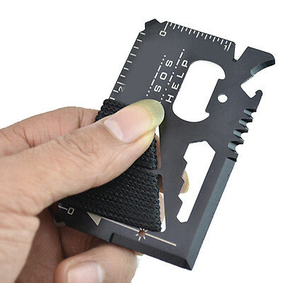 14 in 1 Multi Purpose Pocket Credit Card Survival Knife Outdoor Camping Tool SN2